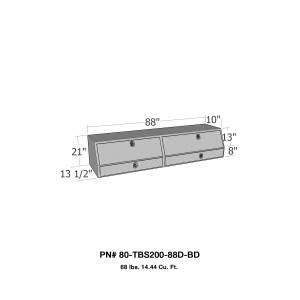 Truck Bed Accessories - Tool Box - Truck Bed Side Rail - Westin - Brute Contractor TopSider Tool Box | Westin (80-TBS200-88D-BD)