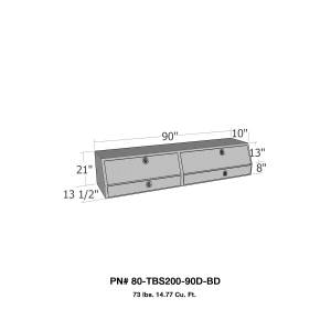 Truck Bed Accessories - Tool Box - Truck Bed Side Rail - Westin - Brute Contractor TopSider Tool Box | Westin (80-TBS200-90D-BD)