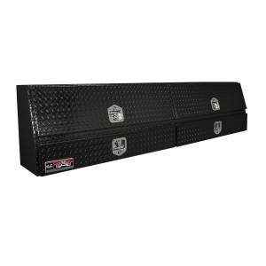 Truck Bed Accessories - Tool Box - Truck Bed Side Rail - Westin - Brute Contractor TopSider Tool Box | Westin (80-TBS200-90D-BD-B)