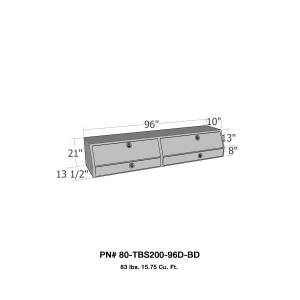 Truck Bed Accessories - Tool Box - Truck Bed Side Rail - Westin - Brute Contractor TopSider Tool Box | Westin (80-TBS200-96D-BD)