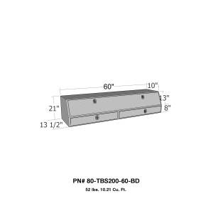 Truck Bed Accessories - Tool Box - Truck Bed Side Rail - Westin - Brute Contractor TopSider Tool Box | Westin (80-TBS200-60-BD)