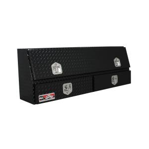 Truck Bed Accessories - Tool Box - Truck Bed Side Rail - Westin - Brute Contractor TopSider Tool Box | Westin (80-TBS200-60-BD-B)