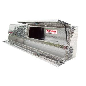 Truck Bed Accessories - Tool Box - Truck Bed Side Rail - Westin - Brute Contractor TopSider Tool Box | Westin (80-TBS200-88D)