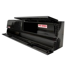 Truck Bed Accessories - Tool Box - Truck Bed Side Rail - Westin - Brute Contractor TopSider Tool Box | Westin (80-TBS200-88D-B)