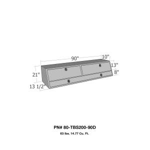 Truck Bed Accessories - Tool Box - Truck Bed Side Rail - Westin - Brute Contractor TopSider Tool Box | Westin (80-TBS200-90D)