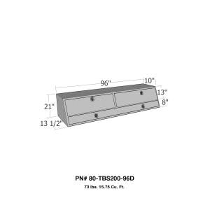 Truck Bed Accessories - Tool Box - Truck Bed Side Rail - Westin - Brute Contractor TopSider Tool Box | Westin (80-TBS200-96D)