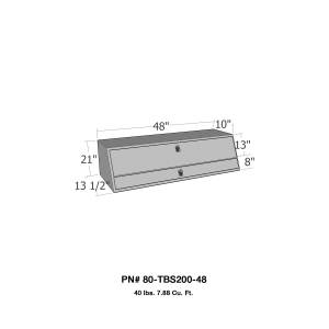 Truck Bed Accessories - Tool Box - Truck Bed Side Rail - Westin - Brute Contractor TopSider Tool Box | Westin (80-TBS200-48)