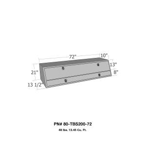 Truck Bed Accessories - Tool Box - Truck Bed Side Rail - Westin - Brute Contractor TopSider Tool Box | Westin (80-TBS200-72)