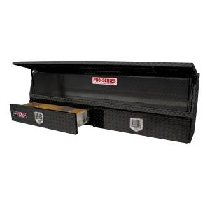 Truck Bed Accessories - Tool Box - Truck Bed Side Rail - Westin - Brute Contractor TopSider Tool Box | Westin (80-TBS200-72-BD-B)
