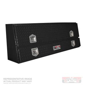 Truck Bed Accessories - Tool Box - Truck Bed Side Rail - Westin - Brute Contractor TopSider Tool Box | Westin (80-TBS200-96D-B)