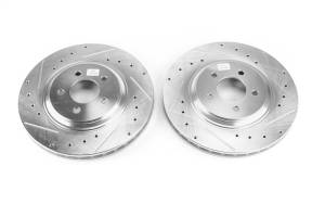 Brakes - Disc Brake Rotor Set - Power Stop - Evolution Performance Drilled/Slotted/Plated Brake Rotor Set | Power Stop (AR8144XPR)