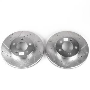 Brakes - Disc Brake Rotor Set - Power Stop - Evolution Performance Drilled/Slotted/Plated Brake Rotor Set | Power Stop (AR8151XPR)