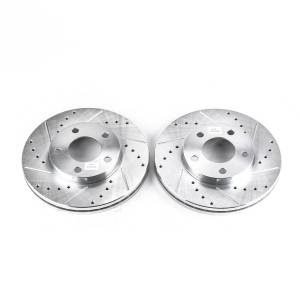 Brakes - Disc Brake Rotor Set - Power Stop - Evolution Performance Drilled/Slotted/Plated Brake Rotor Set | Power Stop (AR8141XPR)