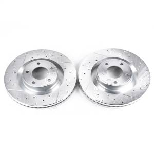 Brakes - Disc Brake Rotor Set - Power Stop - Evolution Performance Drilled/Slotted/Plated Brake Rotor Set | Power Stop (AR8190XPR)