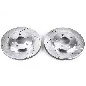 Brakes - Disc Brake Rotor Set - Power Stop - Evolution Performance Drilled/Slotted/Plated Brake Rotor Set | Power Stop (AR8173XPR)