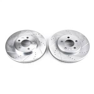 Brakes - Disc Brake Rotor Set - Power Stop - Evolution Performance Drilled/Slotted/Plated Brake Rotor Set | Power Stop (AR8164XPR)