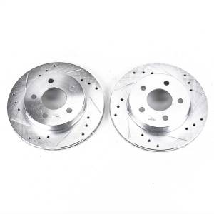 Brakes - Disc Brake Rotor Set - Power Stop - Evolution Performance Drilled/Slotted/Plated Brake Rotor Set | Power Stop (AR8137XPR)
