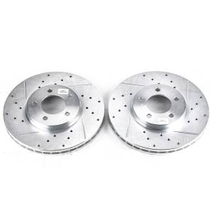 Brakes - Disc Brake Rotor Set - Power Stop - Evolution Performance Drilled/Slotted/Plated Brake Rotor Set | Power Stop (AR8149XPR)
