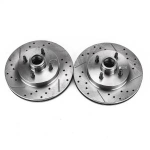 Brakes - Disc Brake Rotor Set - Power Stop - Evolution Performance Drilled/Slotted/Plated Brake Rotor Set | Power Stop (AR8126XPR)