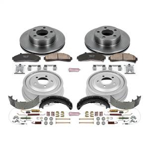 Brakes - Complete Vehicle Disc/Drum Brake Kit - Power Stop - Autospecialty By Power Stop 1-Click Daily Driver Pad/Rotor/Drum And Shoe Kits | Power Stop (KOE15004DK)