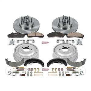 Brakes - Complete Vehicle Disc/Drum Brake Kit - Power Stop - Autospecialty By Power Stop 1-Click Daily Driver Pad/Rotor/Drum And Shoe Kits | Power Stop (KOE15006DK)