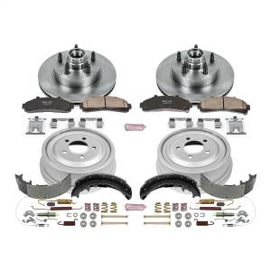 Brakes - Complete Vehicle Disc/Drum Brake Kit - Power Stop - Autospecialty By Power Stop 1-Click Daily Driver Pad/Rotor/Drum And Shoe Kits | Power Stop (KOE15007DK)