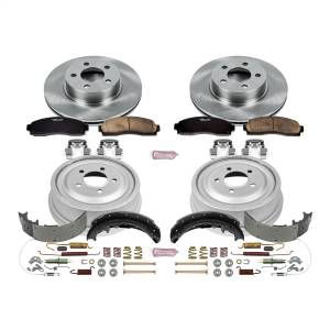 Brakes - Complete Vehicle Disc/Drum Brake Kit - Power Stop - Autospecialty By Power Stop 1-Click Daily Driver Pad/Rotor/Drum And Shoe Kits | Power Stop (KOE15005DK)