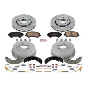 Brakes - Complete Vehicle Disc/Drum Brake Kit - Power Stop - Autospecialty By Power Stop 1-Click Daily Driver Pad/Rotor/Drum And Shoe Kits | Power Stop (KOE15013DK)