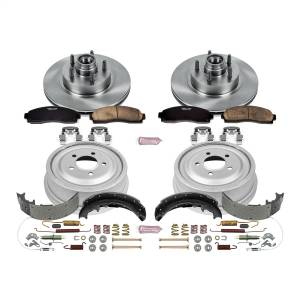 Brakes - Complete Vehicle Disc/Drum Brake Kit - Power Stop - Autospecialty By Power Stop 1-Click Daily Driver Pad/Rotor/Drum And Shoe Kits | Power Stop (KOE15009DK)