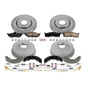 Brakes - Complete Vehicle Disc/Drum Brake Kit - Power Stop - Autospecialty By Power Stop 1-Click Daily Driver Pad/Rotor/Drum And Shoe Kits | Power Stop (KOE15011DK)