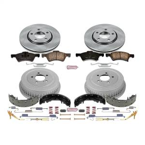 Brakes - Complete Vehicle Disc/Drum Brake Kit - Power Stop - Autospecialty By Power Stop 1-Click Daily Driver Pad/Rotor/Drum And Shoe Kits | Power Stop (KOE15014DK)
