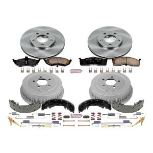 Brakes - Complete Vehicle Disc/Drum Brake Kit - Power Stop - Autospecialty By Power Stop 1-Click Daily Driver Pad/Rotor/Drum And Shoe Kits | Power Stop (KOE15012DK)