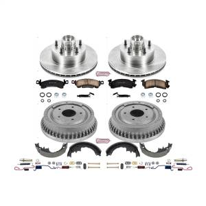Brakes - Complete Vehicle Disc/Drum Brake Kit - Power Stop - Autospecialty By Power Stop 1-Click Daily Driver Pad/Rotor/Drum And Shoe Kits | Power Stop (KOE15020DK)