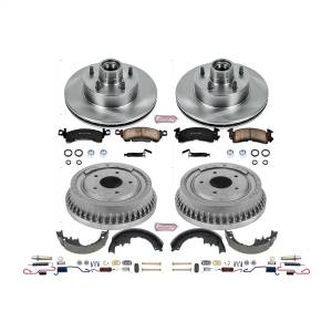 Brakes - Complete Vehicle Disc/Drum Brake Kit - Power Stop - Autospecialty By Power Stop 1-Click Daily Driver Pad/Rotor/Drum And Shoe Kits | Power Stop (KOE15019DK)