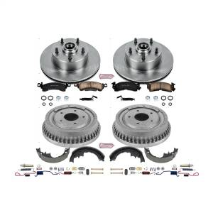 Brakes - Complete Vehicle Disc/Drum Brake Kit - Power Stop - Autospecialty By Power Stop 1-Click Daily Driver Pad/Rotor/Drum And Shoe Kits | Power Stop (KOE15024DK)