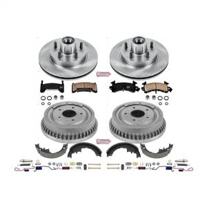 Brakes - Complete Vehicle Disc/Drum Brake Kit - Power Stop - Autospecialty By Power Stop 1-Click Daily Driver Pad/Rotor/Drum And Shoe Kits | Power Stop (KOE15025DK)