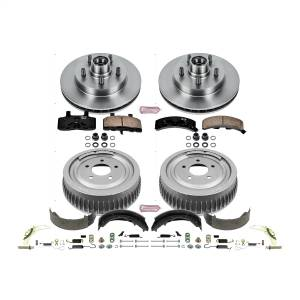Brakes - Complete Vehicle Disc/Drum Brake Kit - Power Stop - Autospecialty By Power Stop 1-Click Daily Driver Pad/Rotor/Drum And Shoe Kits | Power Stop (KOE15036DK)