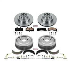 Brakes - Complete Vehicle Disc/Drum Brake Kit - Power Stop - Autospecialty By Power Stop 1-Click Daily Driver Pad/Rotor/Drum And Shoe Kits | Power Stop (KOE15038DK)