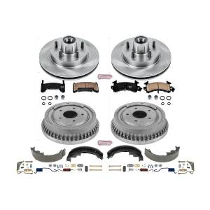 Brakes - Complete Vehicle Disc/Drum Brake Kit - Power Stop - Autospecialty By Power Stop 1-Click Daily Driver Pad/Rotor/Drum And Shoe Kits | Power Stop (KOE15043DK)