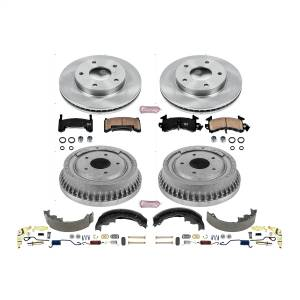 Brakes - Complete Vehicle Disc/Drum Brake Kit - Power Stop - Autospecialty By Power Stop 1-Click Daily Driver Pad/Rotor/Drum And Shoe Kits | Power Stop (KOE15045DK)