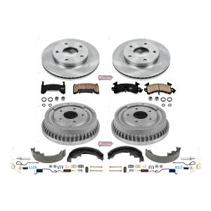 Brakes - Complete Vehicle Disc/Drum Brake Kit - Power Stop - Autospecialty By Power Stop 1-Click Daily Driver Pad/Rotor/Drum And Shoe Kits | Power Stop (KOE15050DK)