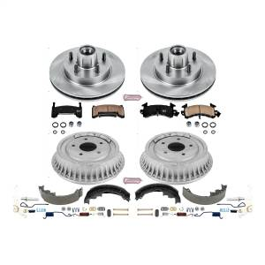 Brakes - Complete Vehicle Disc/Drum Brake Kit - Power Stop - Autospecialty By Power Stop 1-Click Daily Driver Pad/Rotor/Drum And Shoe Kits | Power Stop (KOE15049DK)