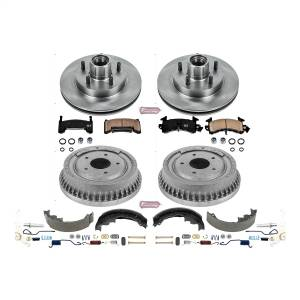 Brakes - Complete Vehicle Disc/Drum Brake Kit - Power Stop - Autospecialty By Power Stop 1-Click Daily Driver Pad/Rotor/Drum And Shoe Kits | Power Stop (KOE15051DK)