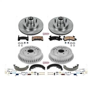 Brakes - Complete Vehicle Disc/Drum Brake Kit - Power Stop - Autospecialty By Power Stop 1-Click Daily Driver Pad/Rotor/Drum And Shoe Kits | Power Stop (KOE15054DK)