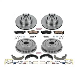 Brakes - Complete Vehicle Disc/Drum Brake Kit - Power Stop - Autospecialty By Power Stop 1-Click Daily Driver Pad/Rotor/Drum And Shoe Kits | Power Stop (KOE15055DK)