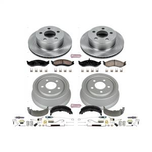 Brakes - Complete Vehicle Disc/Drum Brake Kit - Power Stop - Autospecialty By Power Stop 1-Click Daily Driver Pad/Rotor/Drum And Shoe Kits | Power Stop (KOE15075DK)