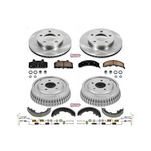 Brakes - Complete Vehicle Disc/Drum Brake Kit - Power Stop - Autospecialty By Power Stop 1-Click Daily Driver Pad/Rotor/Drum And Shoe Kits | Power Stop (KOE15081DK)