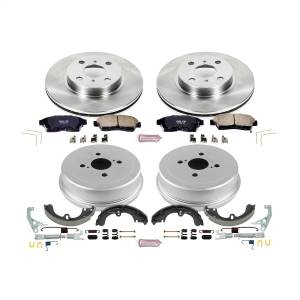 Brakes - Complete Vehicle Disc/Drum Brake Kit - Power Stop - Autospecialty By Power Stop 1-Click Daily Driver Pad/Rotor/Drum And Shoe Kits | Power Stop (KOE15079DK)