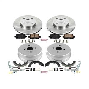 Brakes - Complete Vehicle Disc/Drum Brake Kit - Power Stop - Autospecialty By Power Stop 1-Click Daily Driver Pad/Rotor/Drum And Shoe Kits | Power Stop (KOE15078DK)