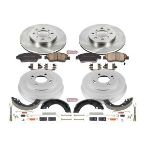Brakes - Complete Vehicle Disc/Drum Brake Kit - Power Stop - Autospecialty By Power Stop 1-Click Daily Driver Pad/Rotor/Drum And Shoe Kits | Power Stop (KOE15088DK)